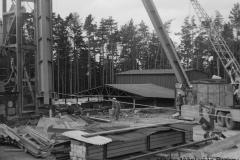 stavba těžní věže brzkov